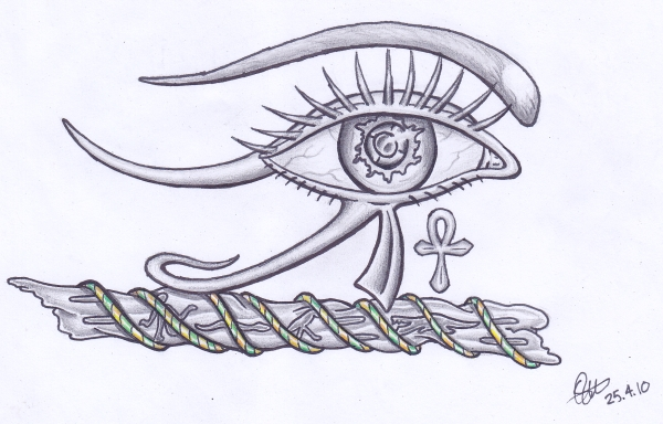 Egyptian Eye of Horus Tattoos, Egyptian tattoo pictures of Egyptian style