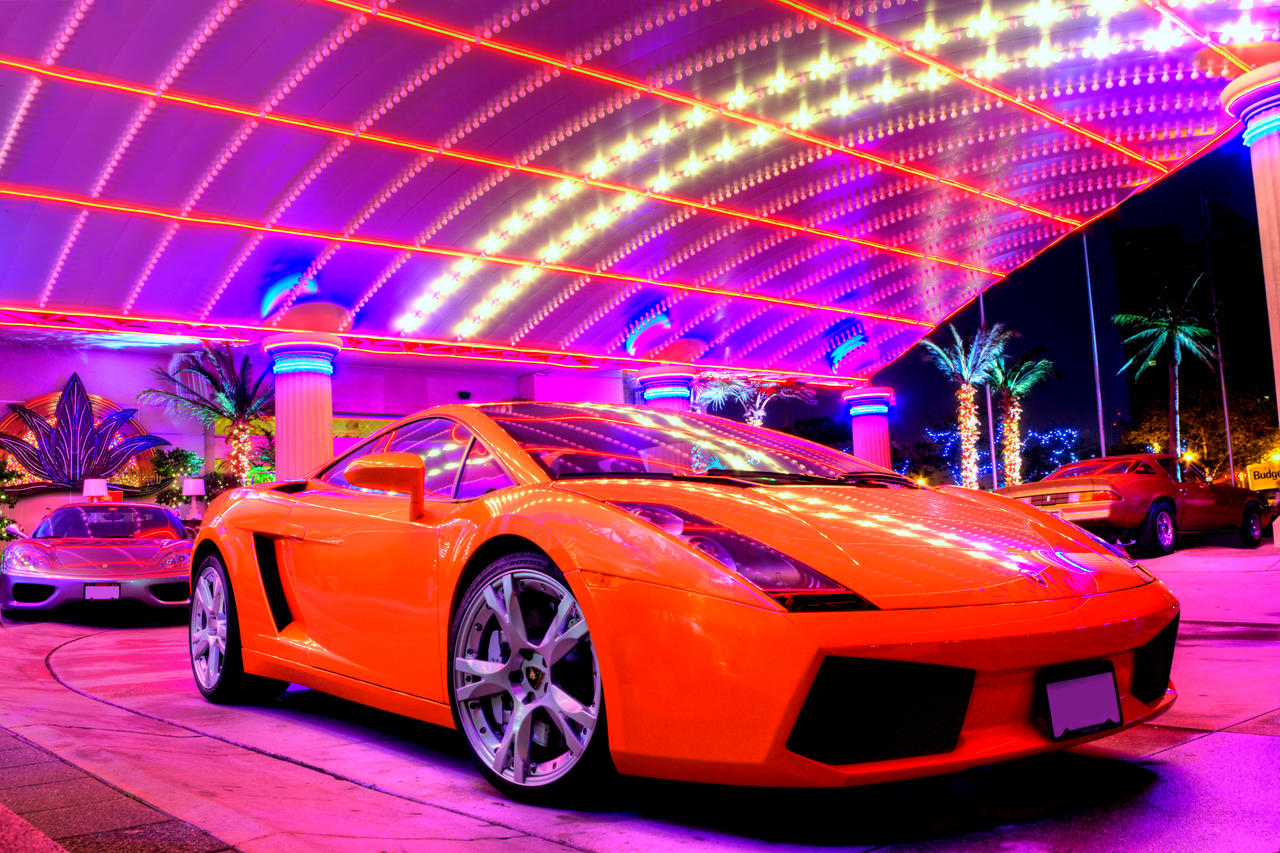 Orange Lamborghini Gallardo by