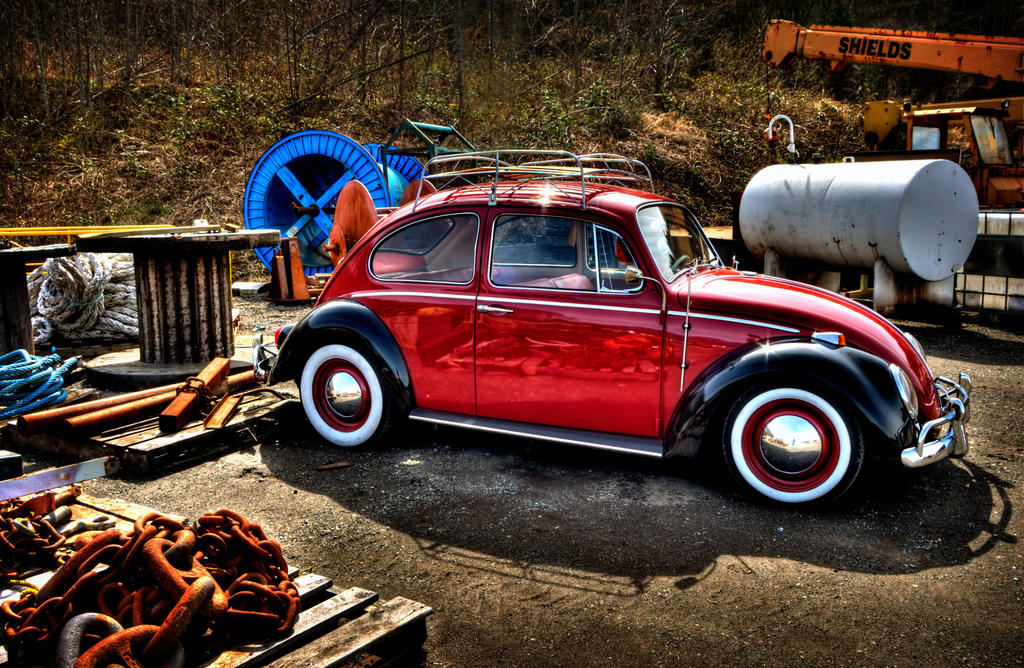 Red Vw Bug By Vidiphoto On Deviantart