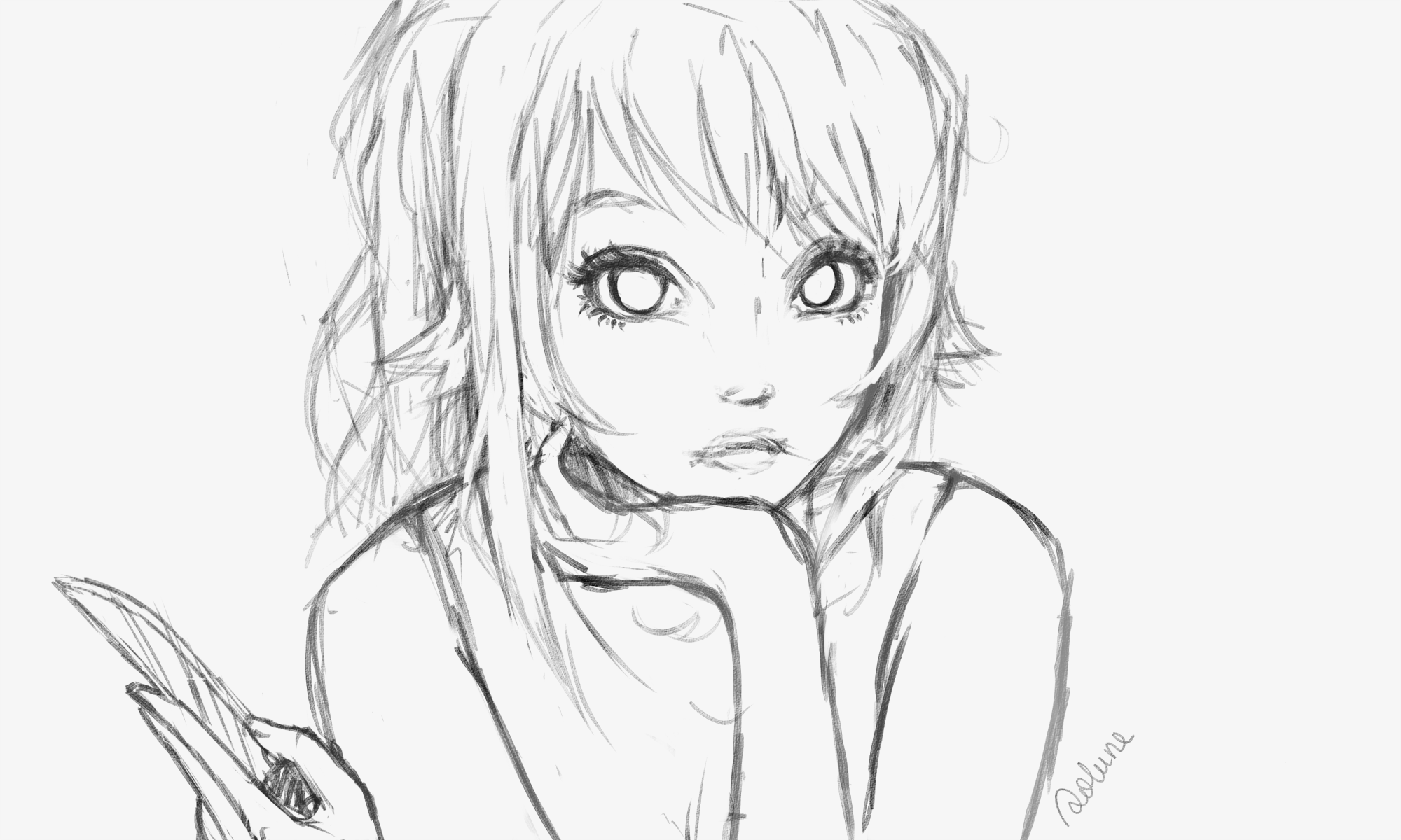 Yandere simulator sketch by solunee on deviantart for Yandere simulator coloring pages