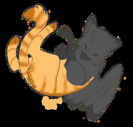 Catbird - art trade by Sushi