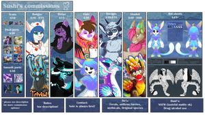 2017 Commission price list - More in desc! by Sushi