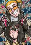 Aizawa and Present Mic