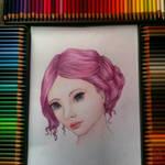Coloured pencil practice