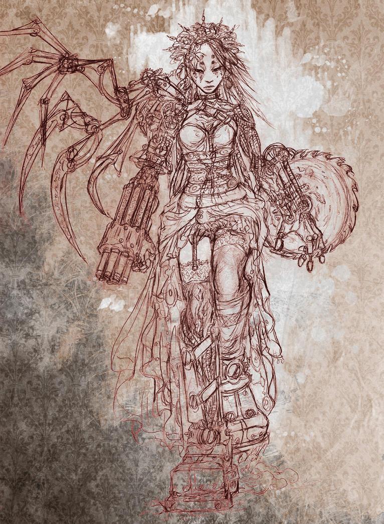 The Gallery - Page 5 Steampunk_cyborg_by_yahirin-d4dm7ry