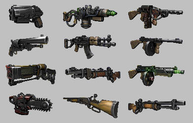 Weapons for classic Fallout by Red888guns