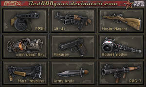 Soviet weapons for classic Fallout by Red888guns