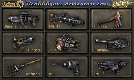 Fallout 76 weapons for classic Fallout