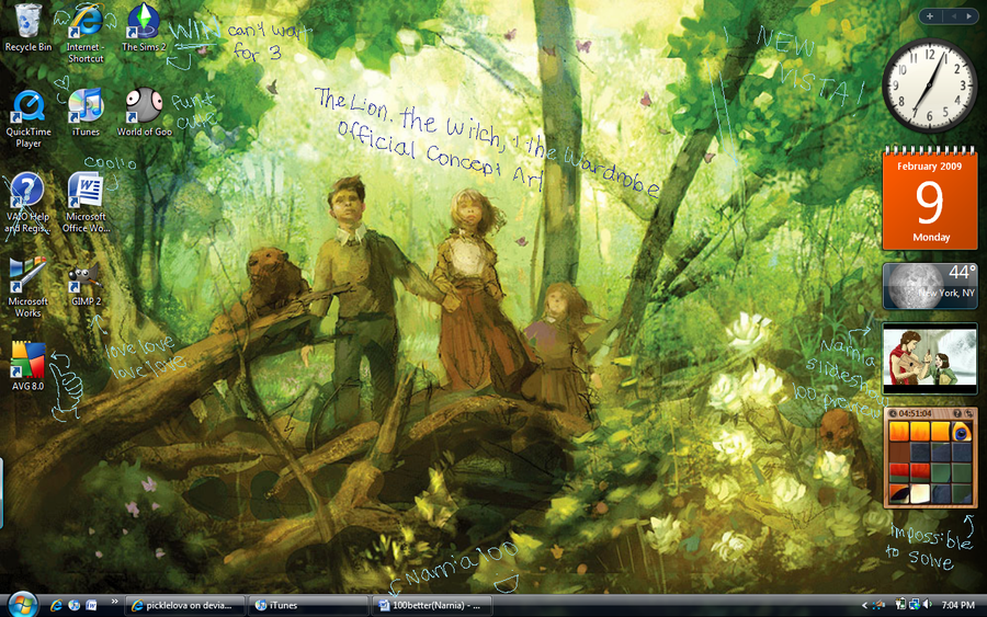 Narnia Desktop by picklelova