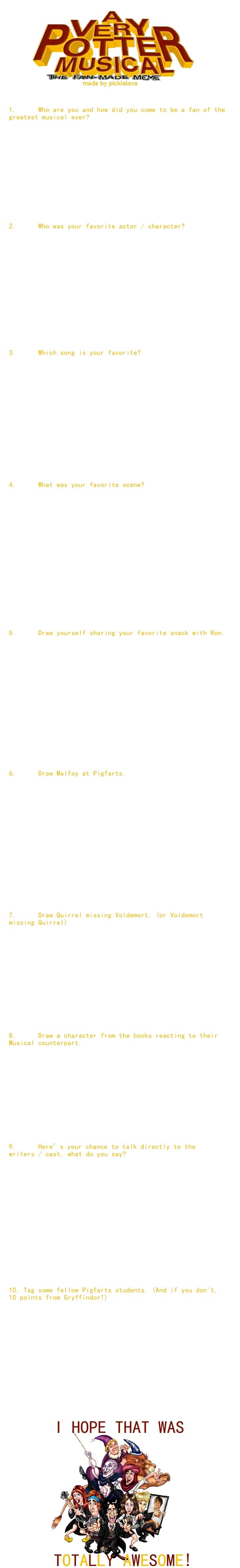 A Very Potter Musical Meme by picklelova