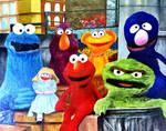 Sesame Street thug nation by DirtNebula