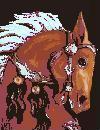 pixel horse head
