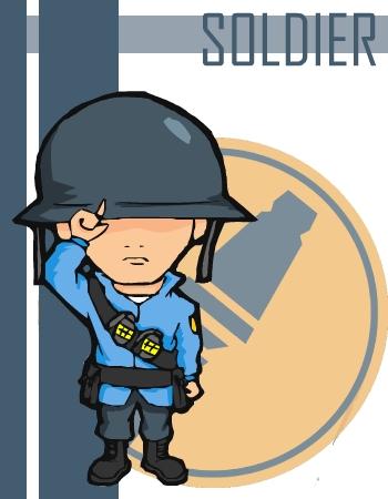 TF2 Chibi Blu Soldier ...