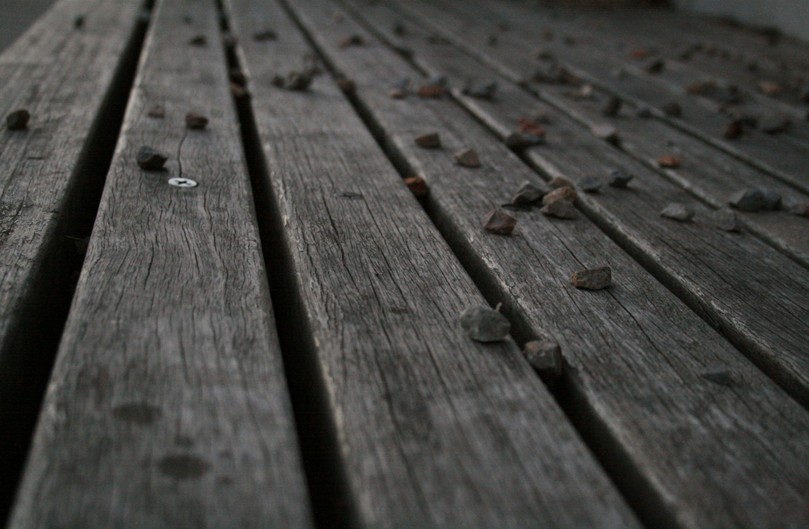 Pebbles on Timber Floor WS wallpaper