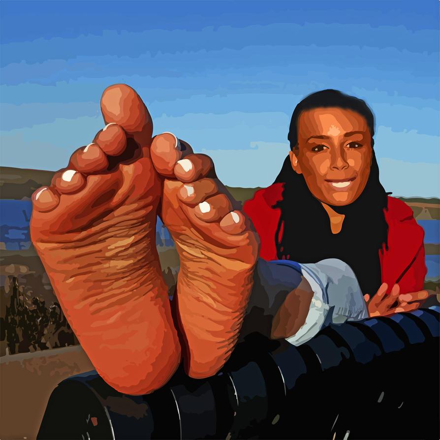 Ola Szwed barefoot by feetkisser