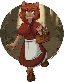 .[Giftart] The Little Red Wolf.+