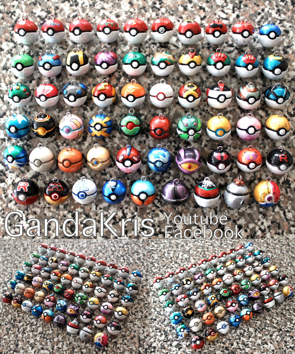All The Pokeballs by GandaKris