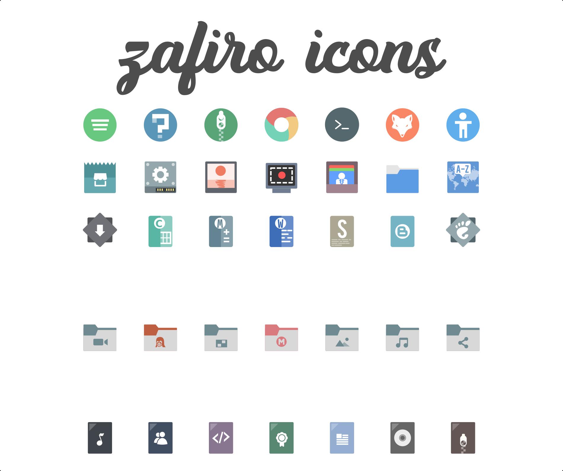 Zafiro icons 0.5