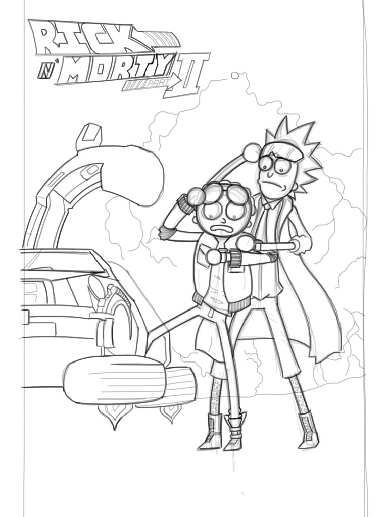 Coloring Pages Rick And Morty : Rick and morty free coloring pages