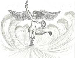 Angel quick sketch by niner9