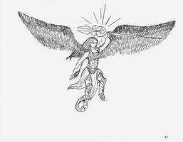 Avacyn - Pen and Pencil by niner9