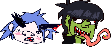 Attempt at Drawing Gorillaz Characters by Star-Gazr44