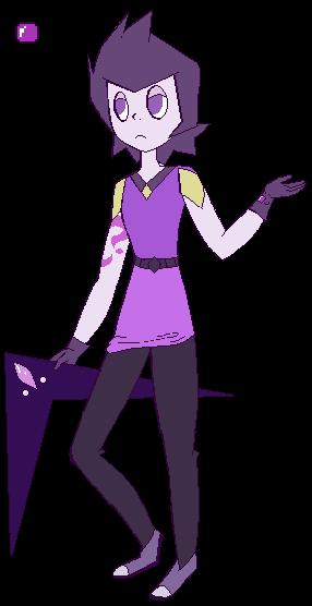 Gemsona - Purple Fluorite by Star-Gazr44
