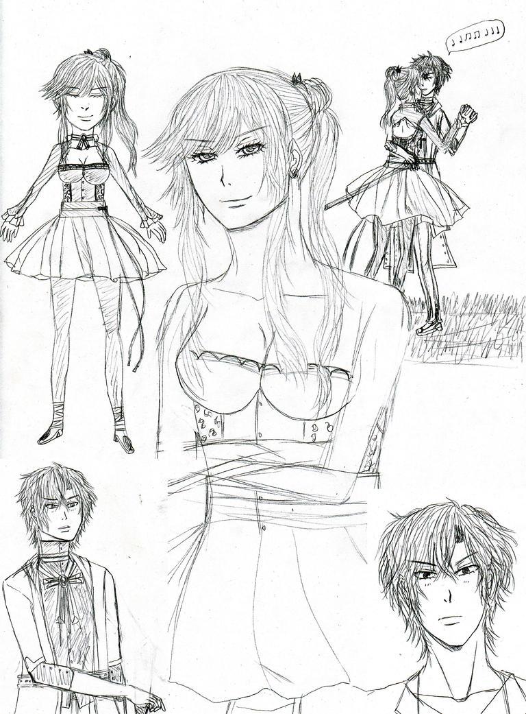 Doodles kaksikko II by jennipal18