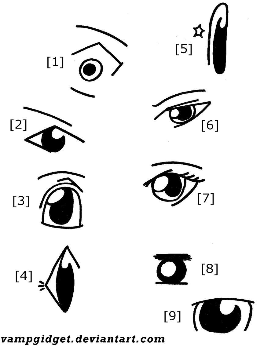 How to gimp draw an eye in on eye manga by reference vampgidget anime deviantart