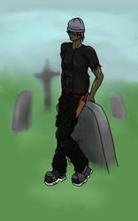 Mel In A Graveyard