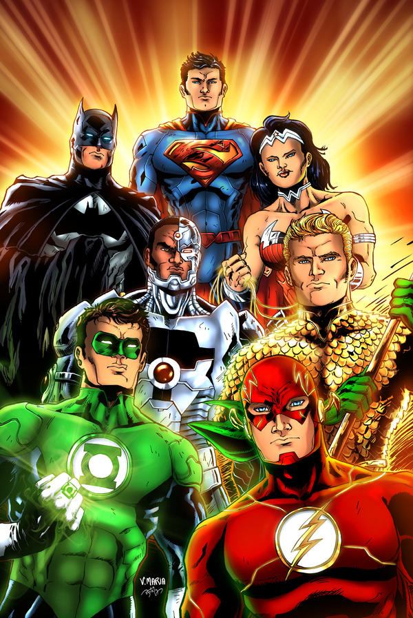 Justice League New 52 - Colors - 2012 by Vinytovince on ...
