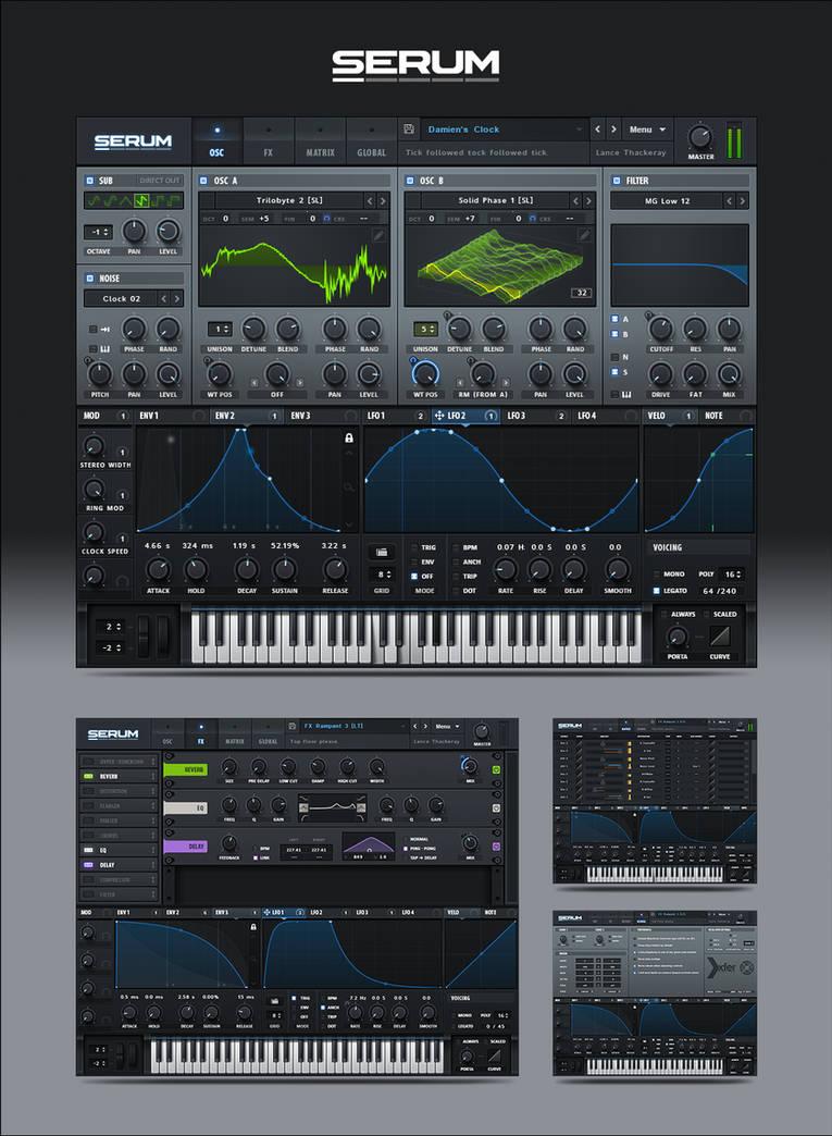 Serum VST GUI by PureAV on DeviantArt