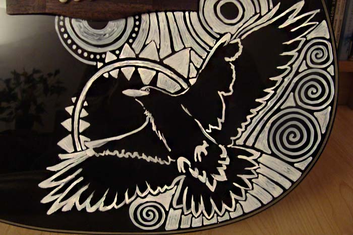 Sharpie Guitar Detail1 by AtarAtis
