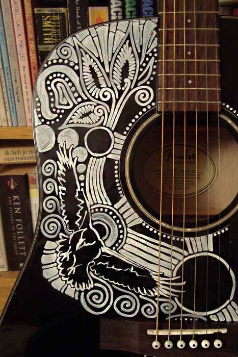 Sharpie Guitar Detail2 by AtarAtis