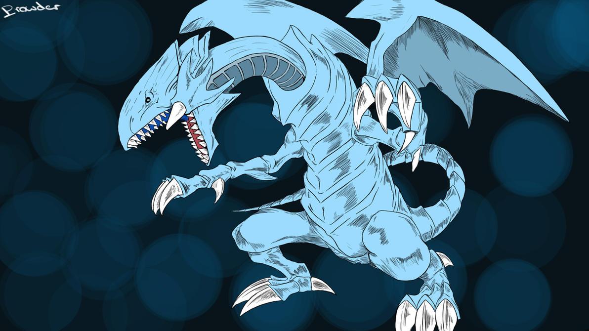 yu gi oh dragons blue eyes white dragon by prowdz on