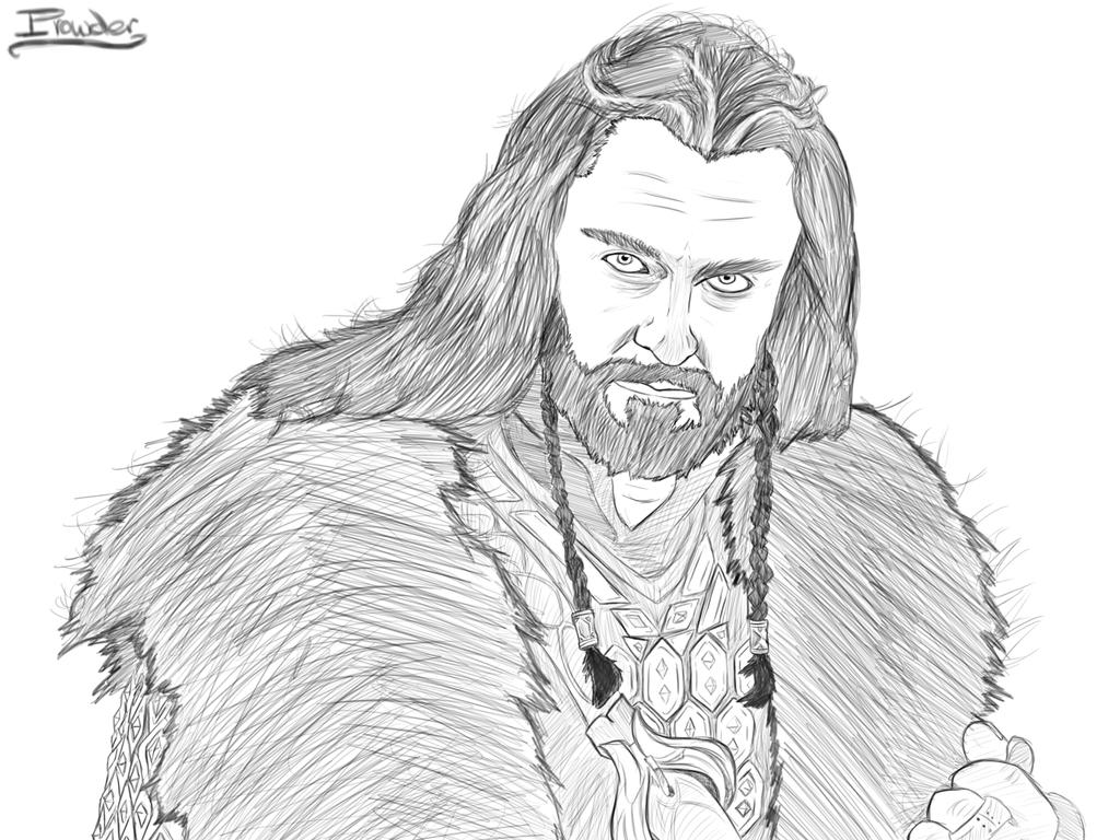 thorin the dwarf in the book the hobbit free coloring pages