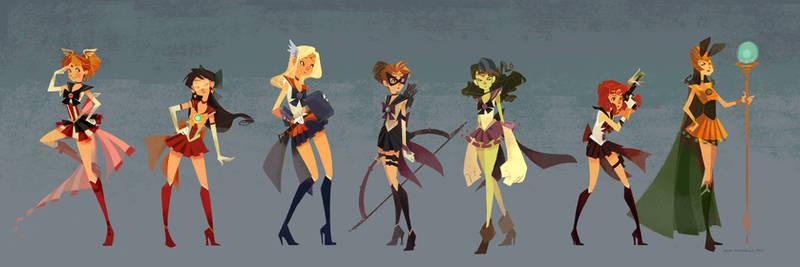 Sailor Avengers by nna
