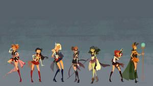 Sailor Avengers Wallpaper 1920X1080