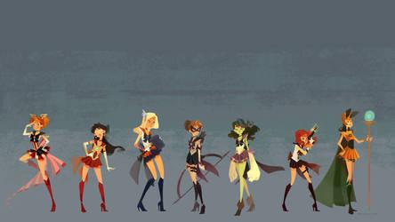 Sailor Avengers Wallpaper 1920X1080 by nna
