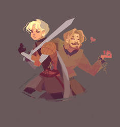 Brienne and Jaime by nna
