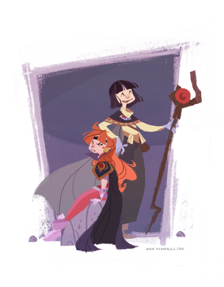 Lina and Xelloss by nna