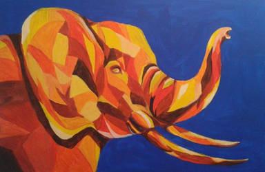 Elephant (Pop-art) by Echo-204