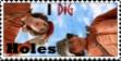 I Dig Holes Stamp by RiffRaffFluff
