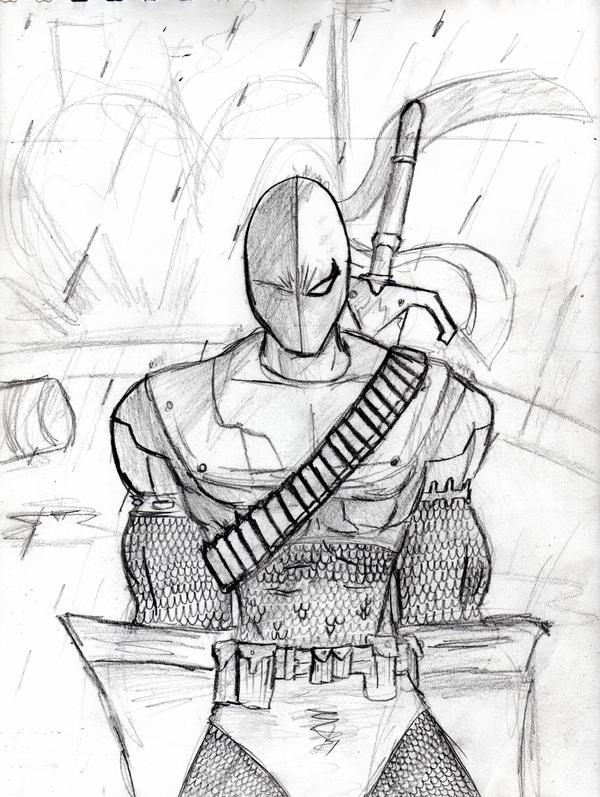 Deathstroke by amrock on deviantart for Deathstroke coloring pages