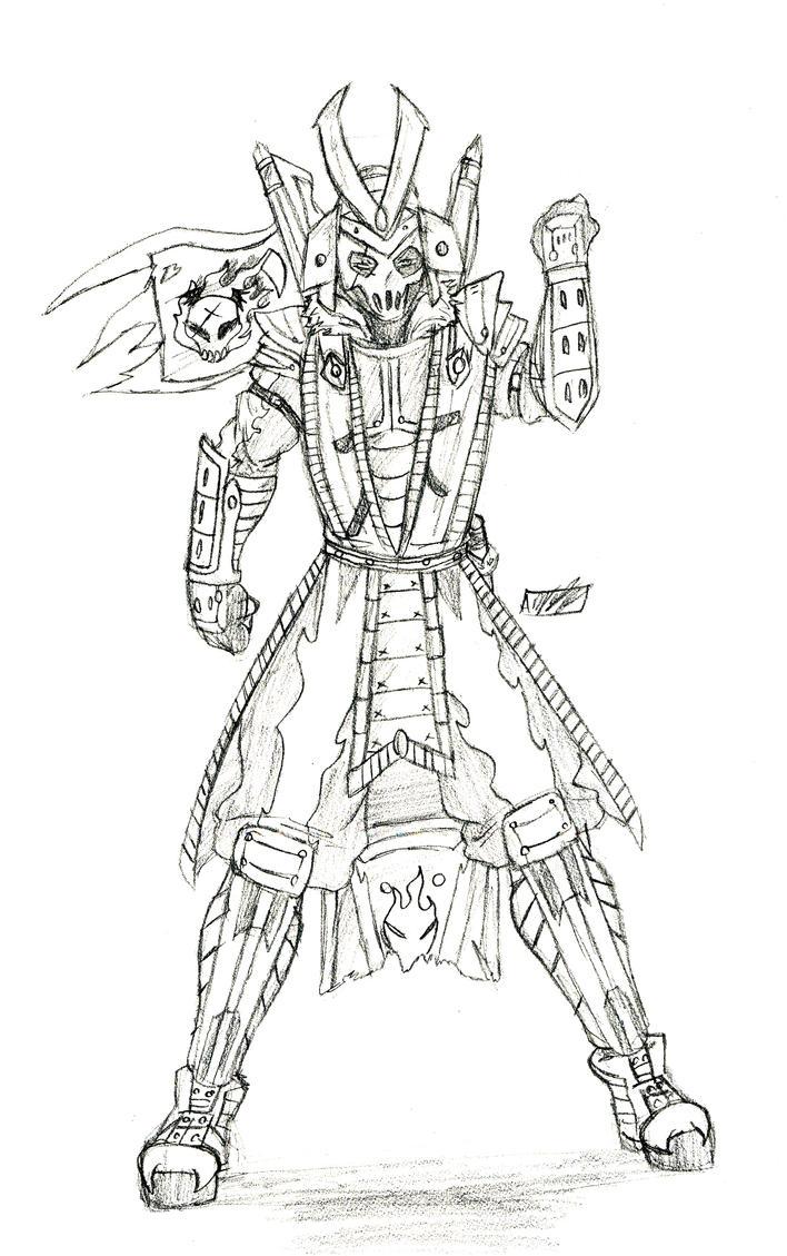 random demon samurai by amrock on deviantart