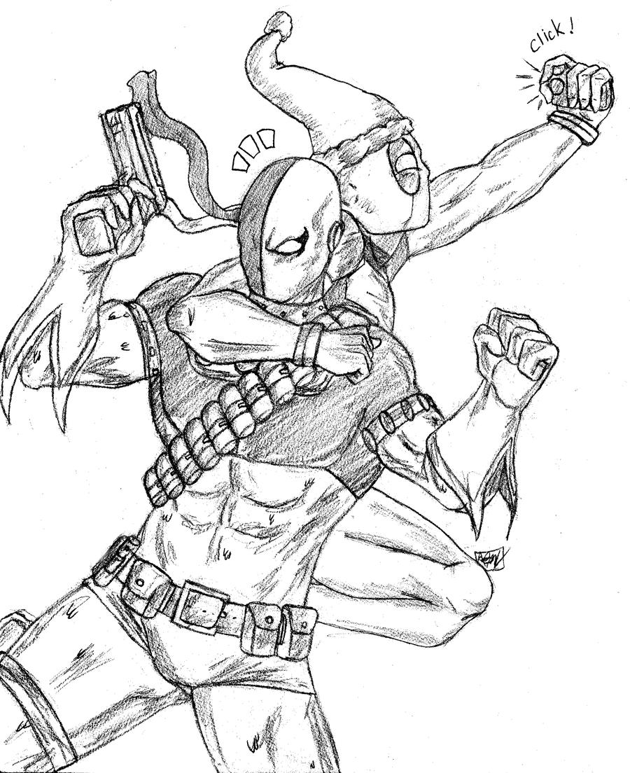 deathstroke and deadpool x mas by amrock on deviantart
