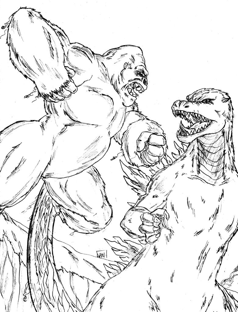 King Kong vs Godzilla by Amrock