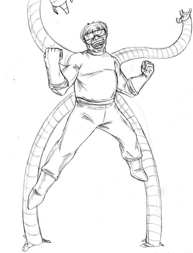 Doc Ock By Amrock On Deviantart Doc Ock Coloring Pages