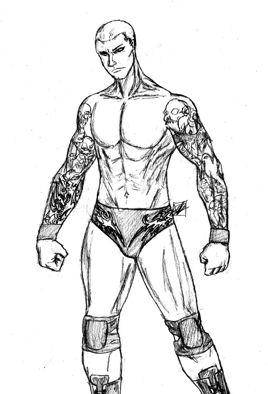 Randy Orton For Digiboy 77 By Amrock On Deviantart Randy Orton Coloring Pages