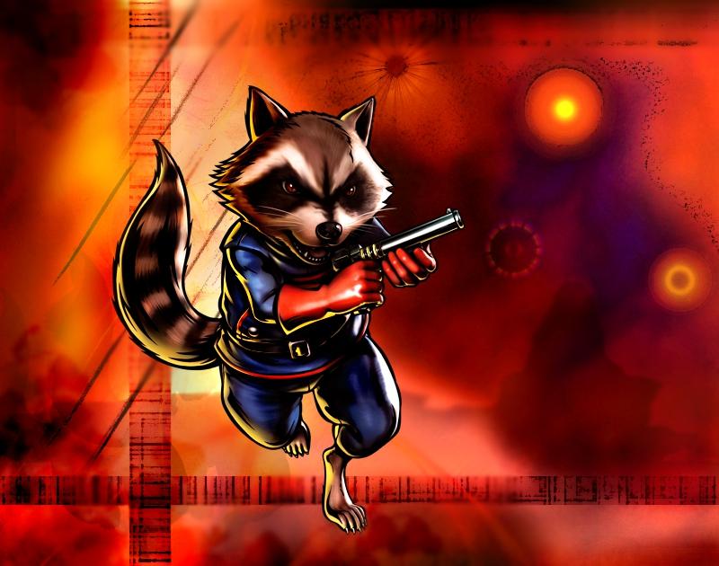 Rocket Raccoon Wallpaper By Amrock